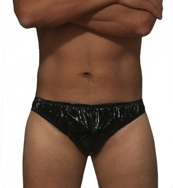 PVC slip men (black / lacquer)