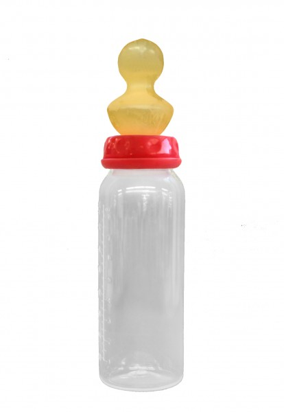 Adult Baby Nipple Bottle for Adults with NUK Sucker (Red)