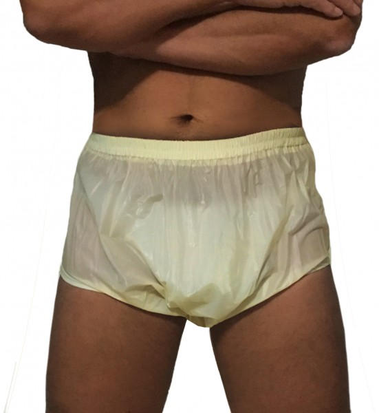 Nappy trousers for adults (yellow)