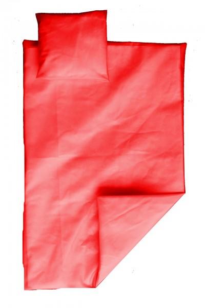 PVC-Bettgarnitur 135x200 cm (Rot)
