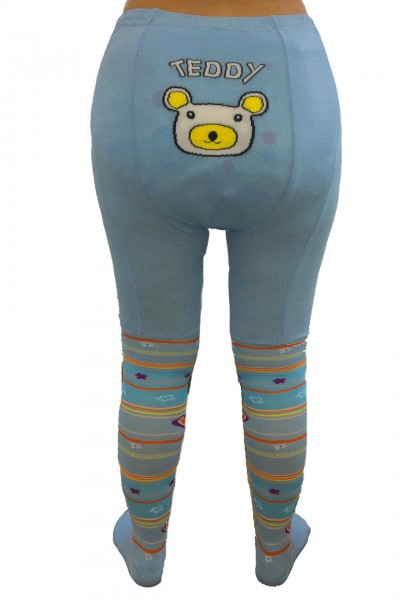 "Adult Baby Pantyhose ""Teddy"" (Blue)"