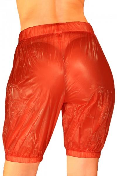 PVC-Jogginghose Knielang (Rot)
