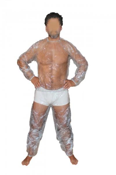 PVC-Saunaanzug (Transparent)
