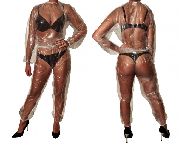 PVC sweat suit (transparent)