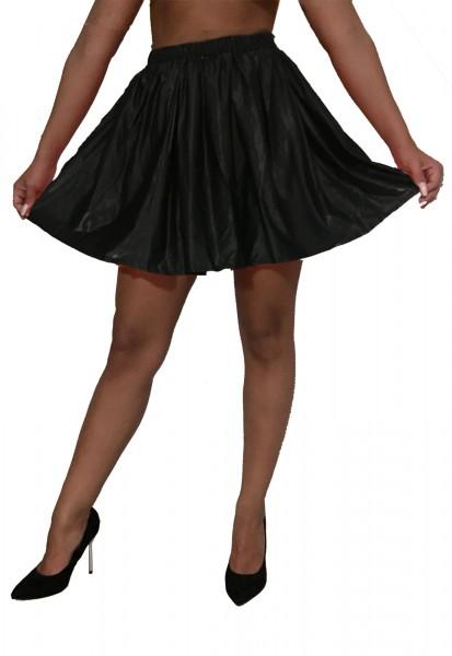 PVC mini skirt (black)