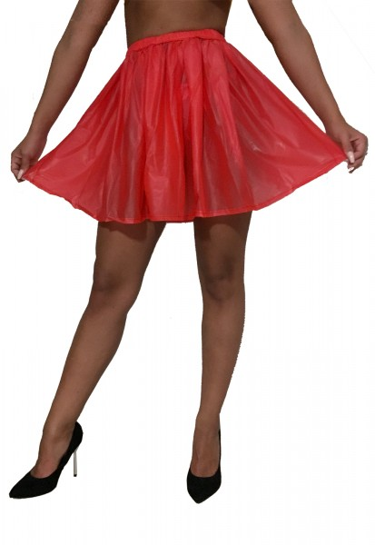 PVC mini skirt (red)