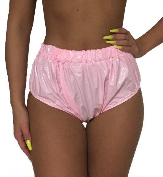 Fully welded diaper pants (pink / lacquer)