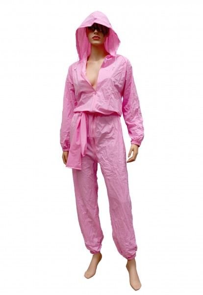 PVC-Overall-Hoody (Pink)