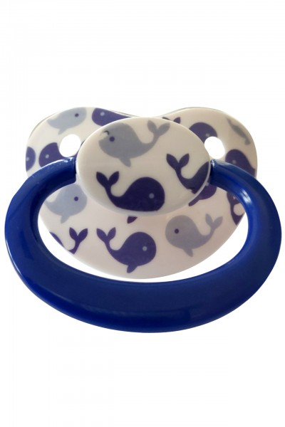 "Adult Baby Soother ""Whale"" (White / Blue)"