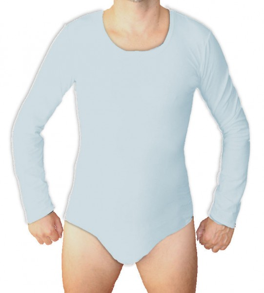 Babybody Baumwolle langarm (Hellblau)