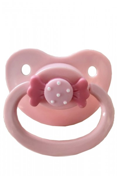 Adult Baby Soother with loop (rose)