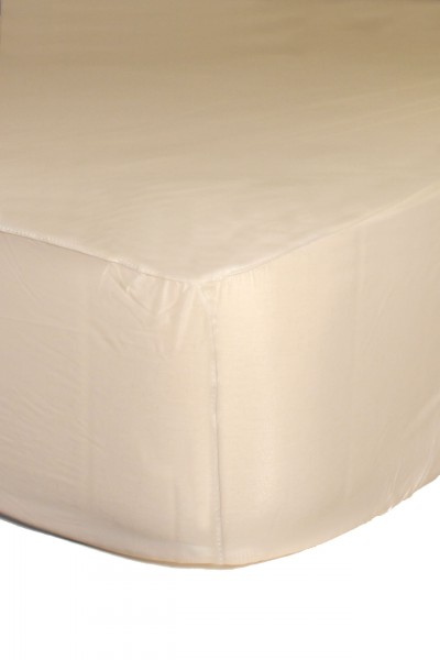 PVC bed sheet 90x200x30 cm (white)