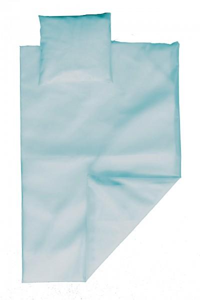 PVC bed linen set 135x200 cm (light blue)