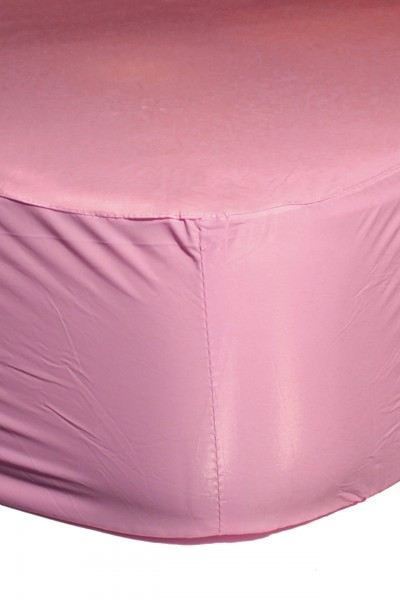 PVC fitted sheet 140x200x30 cm (pink)