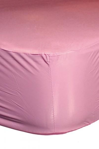 PVC-Spannbettlaken 140x200x30 cm (Pink)