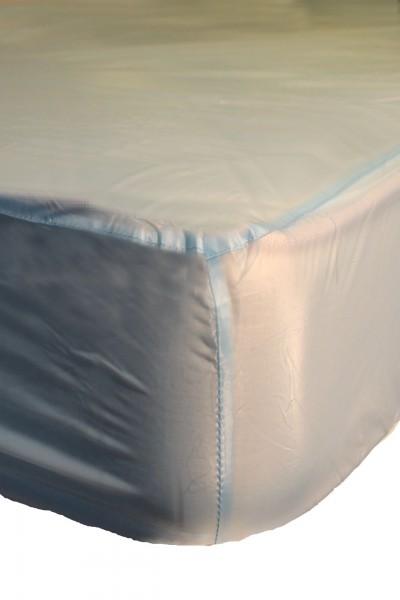 PVC-Spannbettlaken 140x200x30 cm (Hellblau)