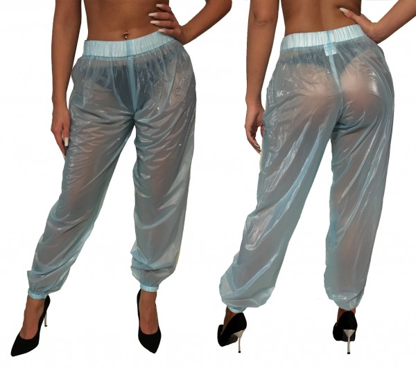 PVC trousers (light blue)