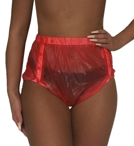 PVC-Schutzhose geknöpft genäht (Rot)