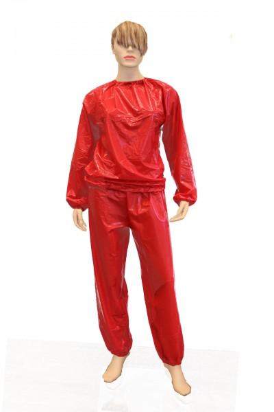 PVC-Saunaanzug (Rot / Lack)