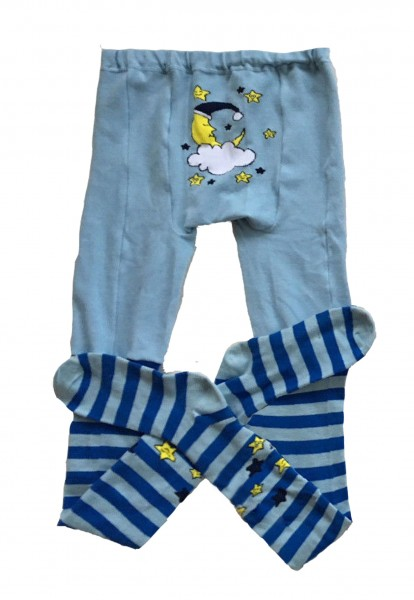 "Adult Baby Pantyhose ""Stars"" (blue)"