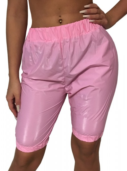 PVC jogging trousers knee length (pink)