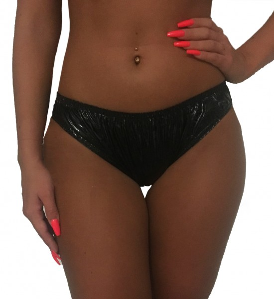 PVC briefs women (black / lacquer)