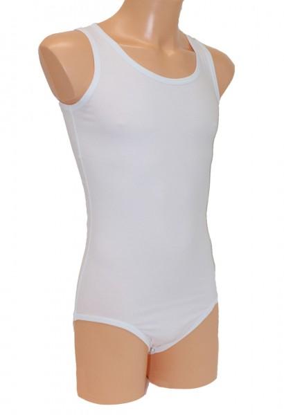 Babybody Baumwolle ohne Arm (Weiß)