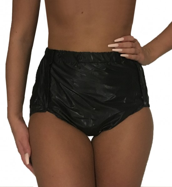 PVC protective trousers buttoned sewn (black)