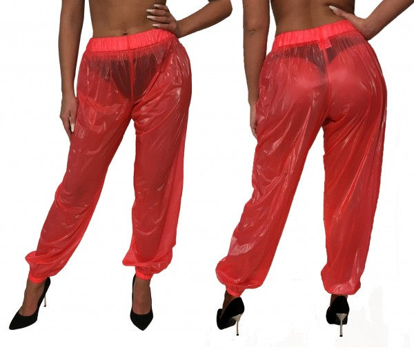 PVC trousers (red)