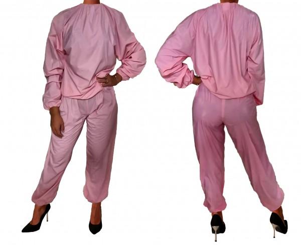 PVC sweat suit (pink)