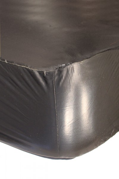 PVC bed sheet 90x200x30 cm (black)