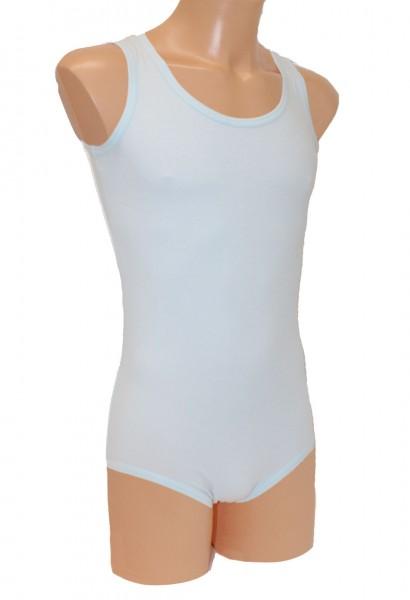 Babybody Baumwolle ohne Arm (Hellblau)