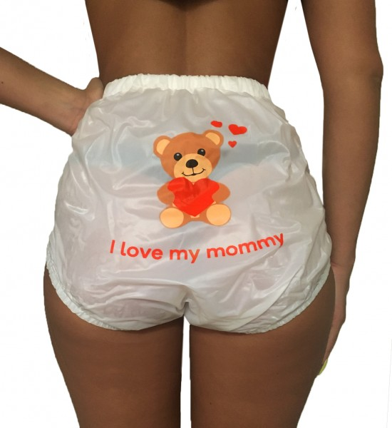PVC protective trousers buttoned Teddy (White)
