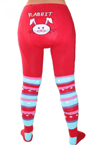 "Adult Baby Pantyhose ""Rabbit"" (Red)"
