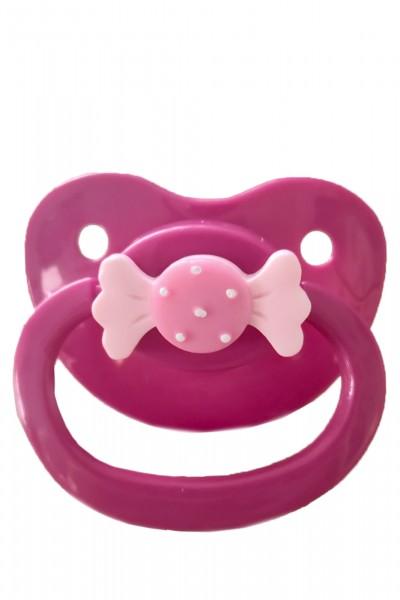 Adult Baby Schnuller mit Schleife (Pink)