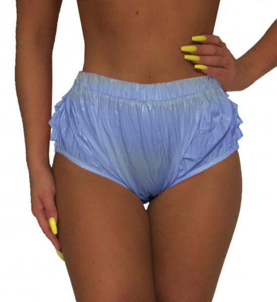 PVC frill panties (light blue / lacquer)