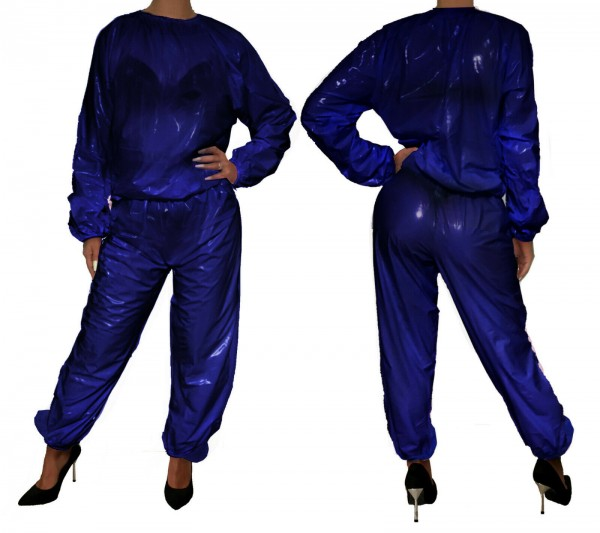 PVC suit (ultramarine blue / lacquer)