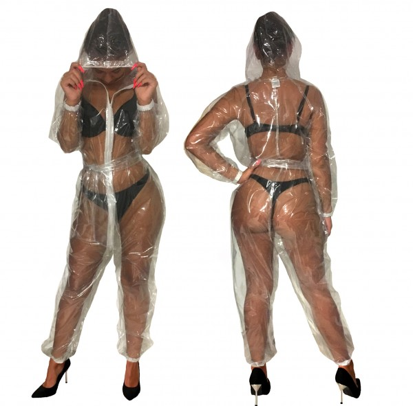PVC-Overall-Hoody (Transparent)