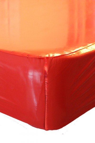 PVC-Bettlaken 90x200x30 cm (Rot / Lack)