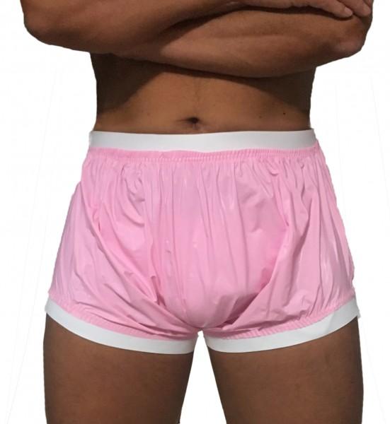 PVC slip-on panties (pink)