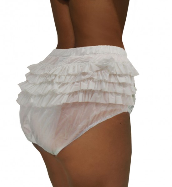 PVC panties (ruffles / white)
