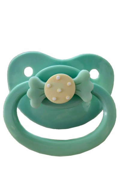 Adult Baby Soother with loop (green)