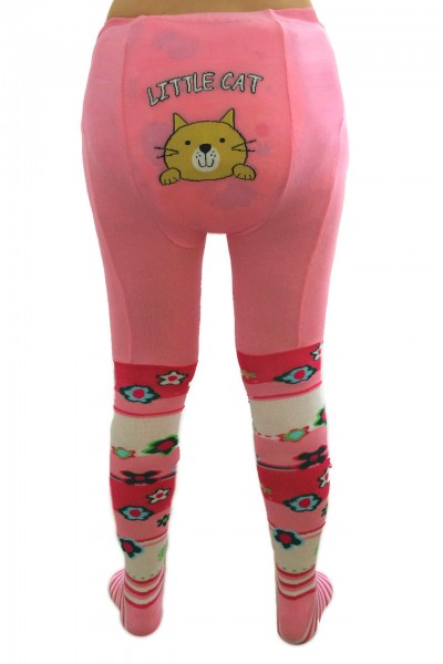 "Adult Baby Pantyhose ""Little Cat"" (Pink)"