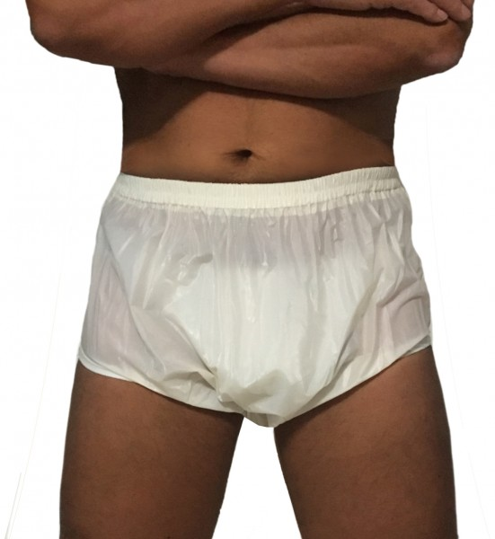Nappy trousers for adults (white)