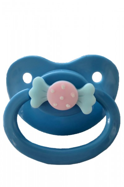 Adult Baby Schnuller mit Schleife (Blau)