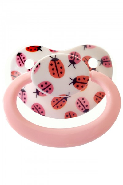 "Adult Baby Soother ""Bug"" (White / Rose)"