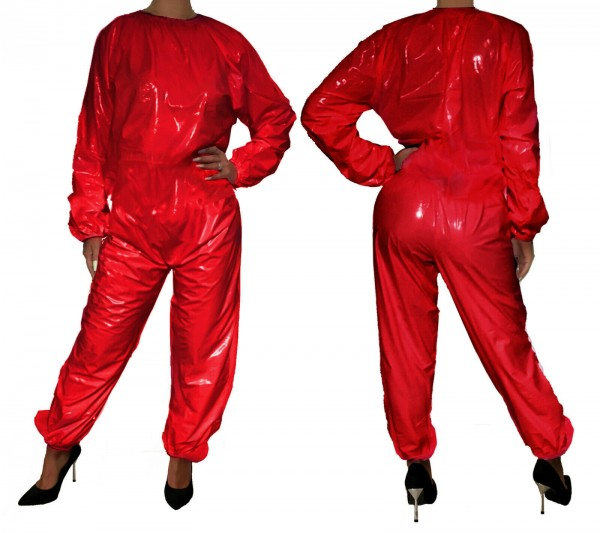 PVC-Overall (red / laquer)