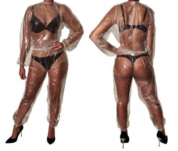 PVC sauna suit (transparent)