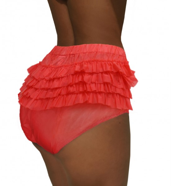 PVC frill panties (red)