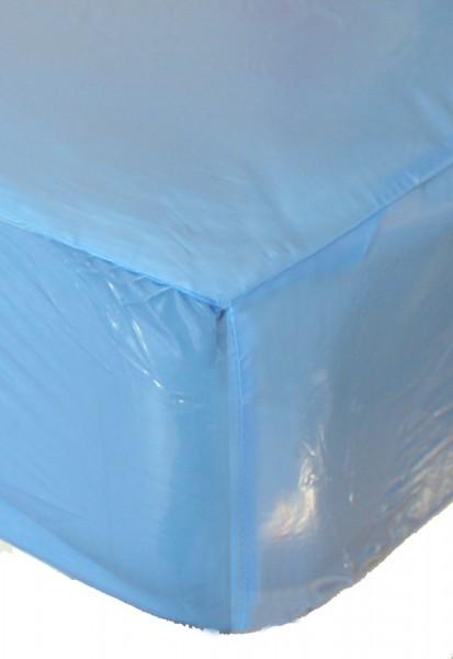 PVC-Bettlaken 140x200x30 cm (Babyblau / Lack)